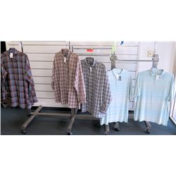 Qty 3 Men's Long Sleeve Indygo Smith, Lucklana & 2 Polos Size 2XL