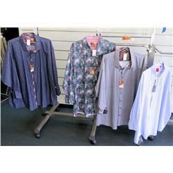 Qty 4 Men's Shirts by Sloane, Proper Size 7XL