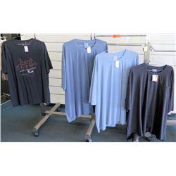 Qty 4 Men's T-Shirts by Replika, Foxfire Size 6XL
