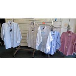 "Qty 5 Men's Dress Shirts by Proper, Damon Size Neck 20""-22"""