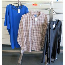 Qty 3 Men's Shirts by North 564, Indygo Smith, Replika Size 4XL