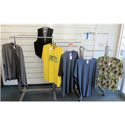 Qty 5 Men's Shirts by North 564, Foxfire, RJC & Black Vest Size 2XL