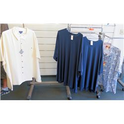Qty 2 Men's Shirts by Indygo Smith, Sloane & 2 T-Shirts Size 8XL