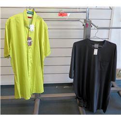 Qty 2 Men's Shirts by Luchiano Visconti, Foxfire Size 2XL