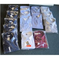 "Qty 15 Men's Dress Shirts Misc Colors Modena, Proper Size Neck 20""-22"""