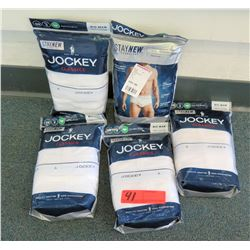 Qty 5 Packages Stay New Jockey Shorts Underwear Size 58