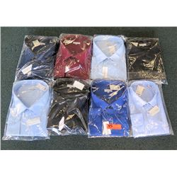 "Qty 8 Men's Dress Shirts Misc Colors Modena Classic Fit Size 19""-24"" Neck"