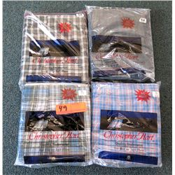 Qty 4 Packages Christopher Hart Boxer Shorts Misc Colors Size 5XL 7XL & 8XL