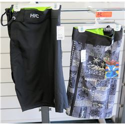 Qty 2 Men's Hawaiian Island Creations, Enjoy the Ride Misc Board Shorts Size 46