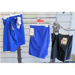Qty 3 Men's Blue Elastic Waist Shorts Size 1XL