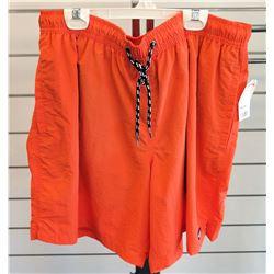 Orange Elastic Waist w/ Drawstring Shorts Size 3XL