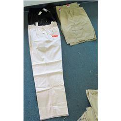Qty 2 Men's Elastic Waist Pants & 2 Full Blue Shorts Size 64