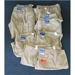 Qty 8+ Full Blue Khaki Colored Cargo Shorts Size 56 & 60