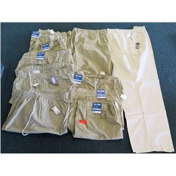 Qty 7+ Full Blue Khaki Colored Cargo Shorts Size 58-70 & Creekwood Pants Size 70