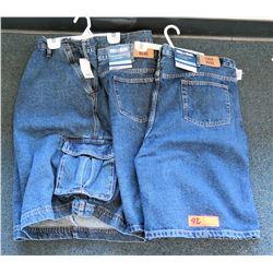 Qty 2 Full Blue Denim Jean 5P Shorts Size 52