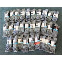 Qty 29 Merino Wool Extra Wide Black Socks