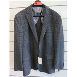 Luchiano Visconti Classic Houndstooth Plaid Suit Jacket Size 2XL/64