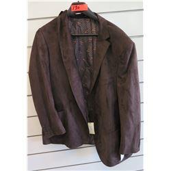 Luchiano Visconti Classic Dark Brown Suit Jacket Size 3XL/68