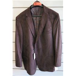 Luchiano Visconti Classic Dark Brown Suit Jacket Size 2XL/64