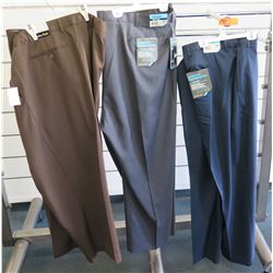 Qty 3 Jonathan Quale & Stretch Crosshatch Long Pants Size 58