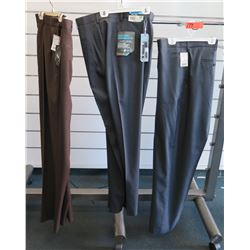 Qty 3 Jonathan Quale & Stretch Crosshatch Long Pants Size 48-50