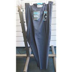 Savane Big & Tall Expandable Waistband Charcoal Long Pants Size 60W