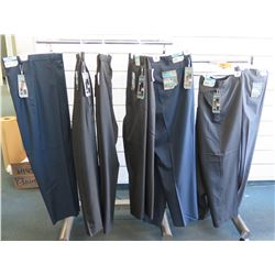 Qty 7 Savane Expandable Waistband Stretch Crosshatch Long Pants Size 48W