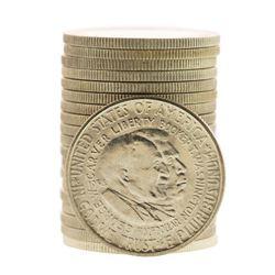 Roll of (20) Brilliant Uncirculated 1954-S Booker T. Washington Commemorative Half Dollar Coins