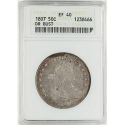 1807 Draped Bust Half Dollar Coin ANACS XF40