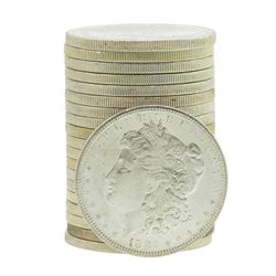 Roll of (20) Brilliant Uncirculated 1882-S $1 Morgan Silver Dollar Coins