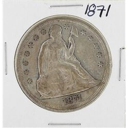 1871 $1 Liberty Seated Silver Dollar Coin