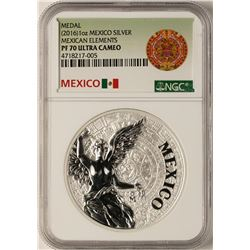 2016 Mexican Elements Mexico Silver Medal NGC PF70 Ultra Cameo