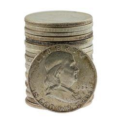 Roll of (20) Brilliant Uncirculated 1962-D Franklin Half Dollar Coins