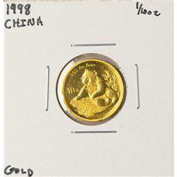 1998 China Panda 1/10 oz Gold Coin