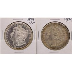 Lot of 1879-S & 1879 $1 Morgan Silver Dollar Coins