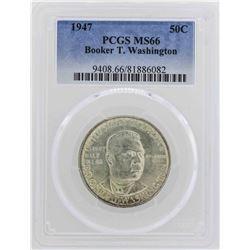 1947 Booker T Washington Centennial Commemorative Half Dollar Coin PCGS MS66