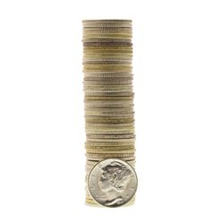 Roll of (50) Brilliant Uncirculated 1941-S Mercury Dime Coins