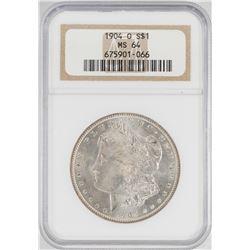 1904 $1 Morgan Silver Dollar Coin NGC MS64