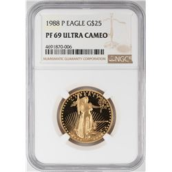 1988-P $25 Proof American Gold Eagle Coin NGC PF69 Ultra Cameo