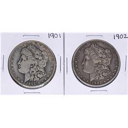 Lot of 1901-1902 $1 Morgan Silver Dollar Coins