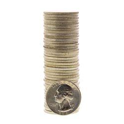Roll of (40) Brilliant Uncirculated 1964-D Washington Quarter Coins