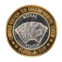 .999 Silver Slots - A - Fun Las Vegas, Nevada $10 Casino Limited Edition Gaming Token