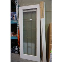 LEADED GLASS FRENCH DOOR