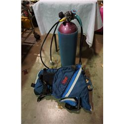 PRO SUB DIVING VEST, GAUGES, TANK, AND ACCESSORIES