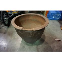 LARGE PLANTER POT, CHIPPED RIM