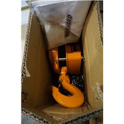 NEW WESTWARD 3 TON CHAIN HOIST