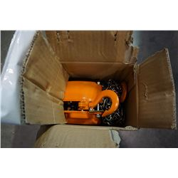 NEW WESTWARD 1/2 TON CHAIN HOIST