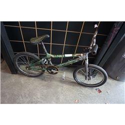 GREEN AND GREY NO NAME BMX BIKE