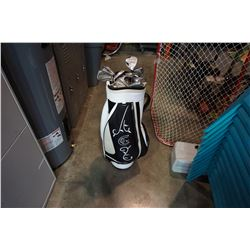 CALLAWAY BAG OF STAINLESS AND ULTRA LIGHT GOLF CLUBS