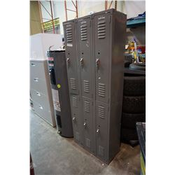 BANK OF 6 LOCKERS 6FT TALL